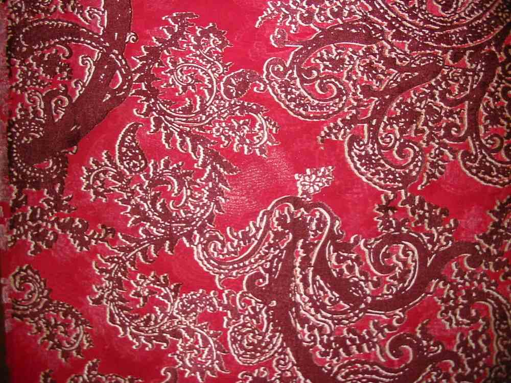 FIE-2006-164-13 / BURGANDY         / SILK SATIN BURN OUT 30% SILK 70% RAYON