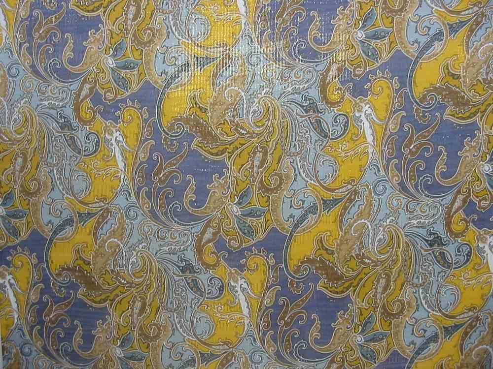 06HS020 / BLUE         / Silk Chiffon Print W/ Lurex 11.5 MM
